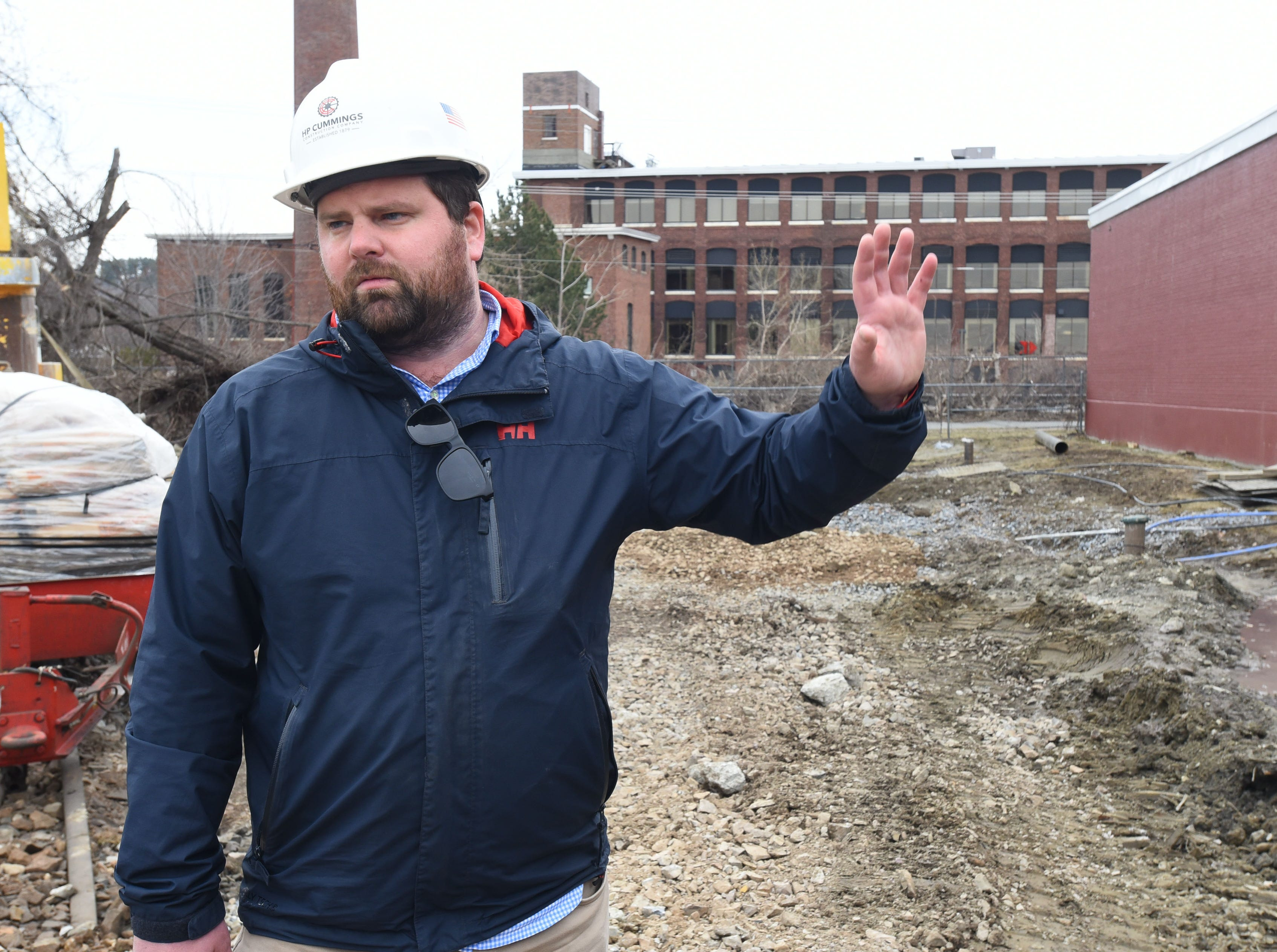 ... Friday, April 12, 2019, at the former Blodgett Oven plant on Lakeside Avenue in Burlington. The 14 acre site is being redeveloped into an energy efficient campus for companies.