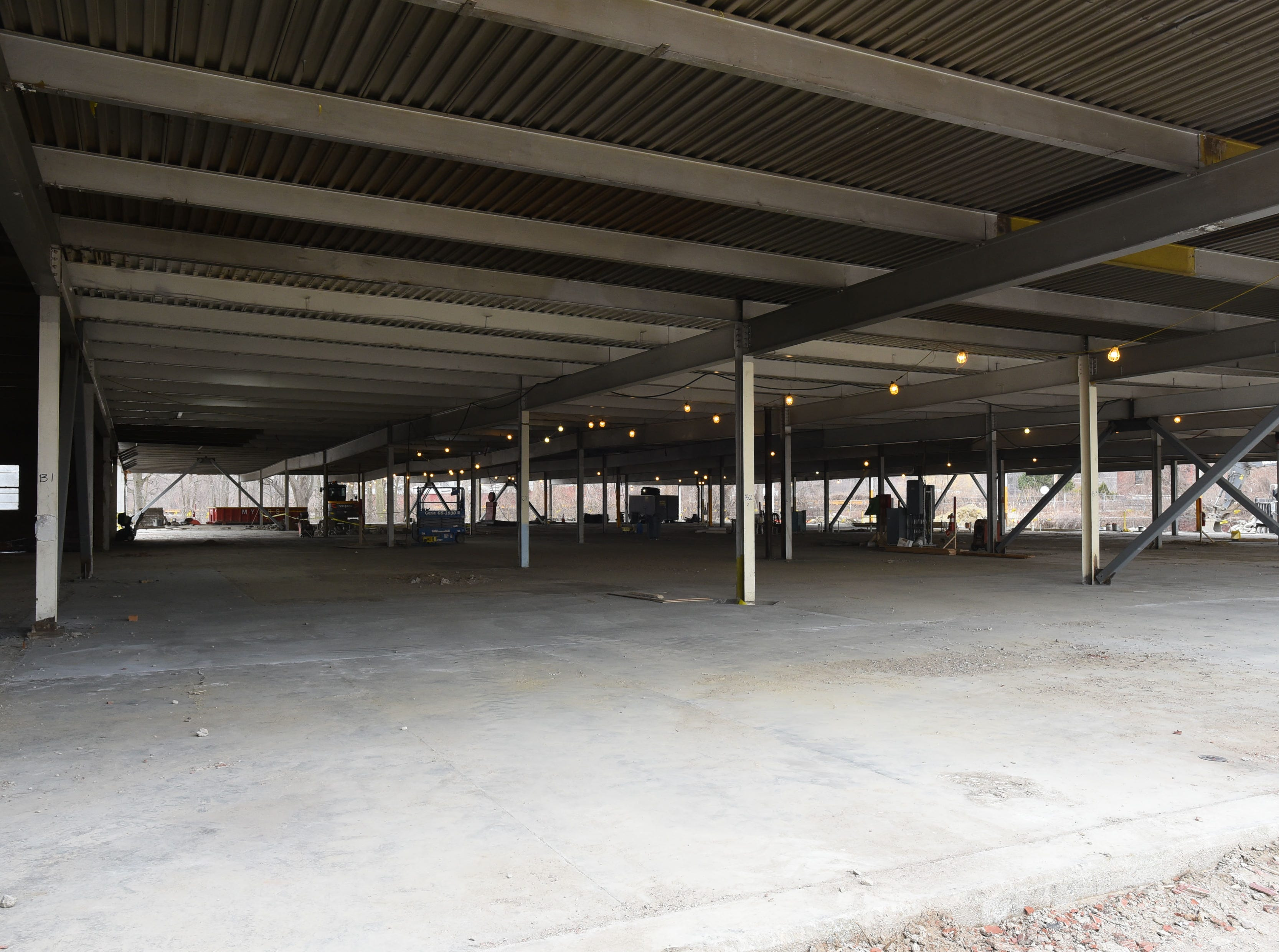 Building 44 stands stripped to the frame on  Friday, April 12, 2019, at the former Blodgett Oven plant on Lakeside Avenue in Burlington. The 14 acre site is being redeveloped into an energy efficient campus for companies.
