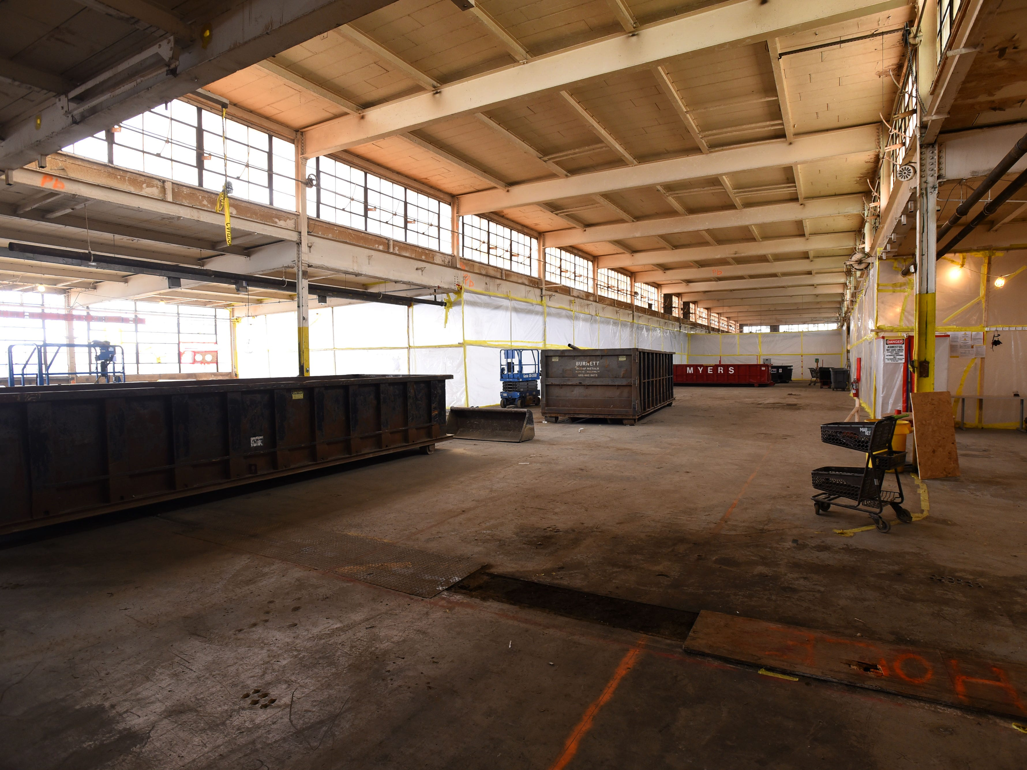 The interior of building 50 seen on Friday, April 12, 2019, at the former Blodgett Oven plant on Lakeside Avenue in Burlington. The 14 acre site is being redeveloped into an energy efficient campus for companies.