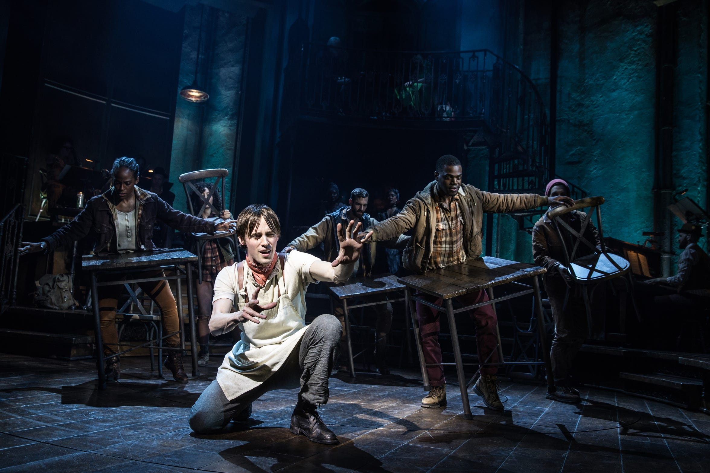 "Reeve Carney stars as Orpheus in the Broadway production of Anais Mitchell's Vermont-born musical ""Hadestown."""