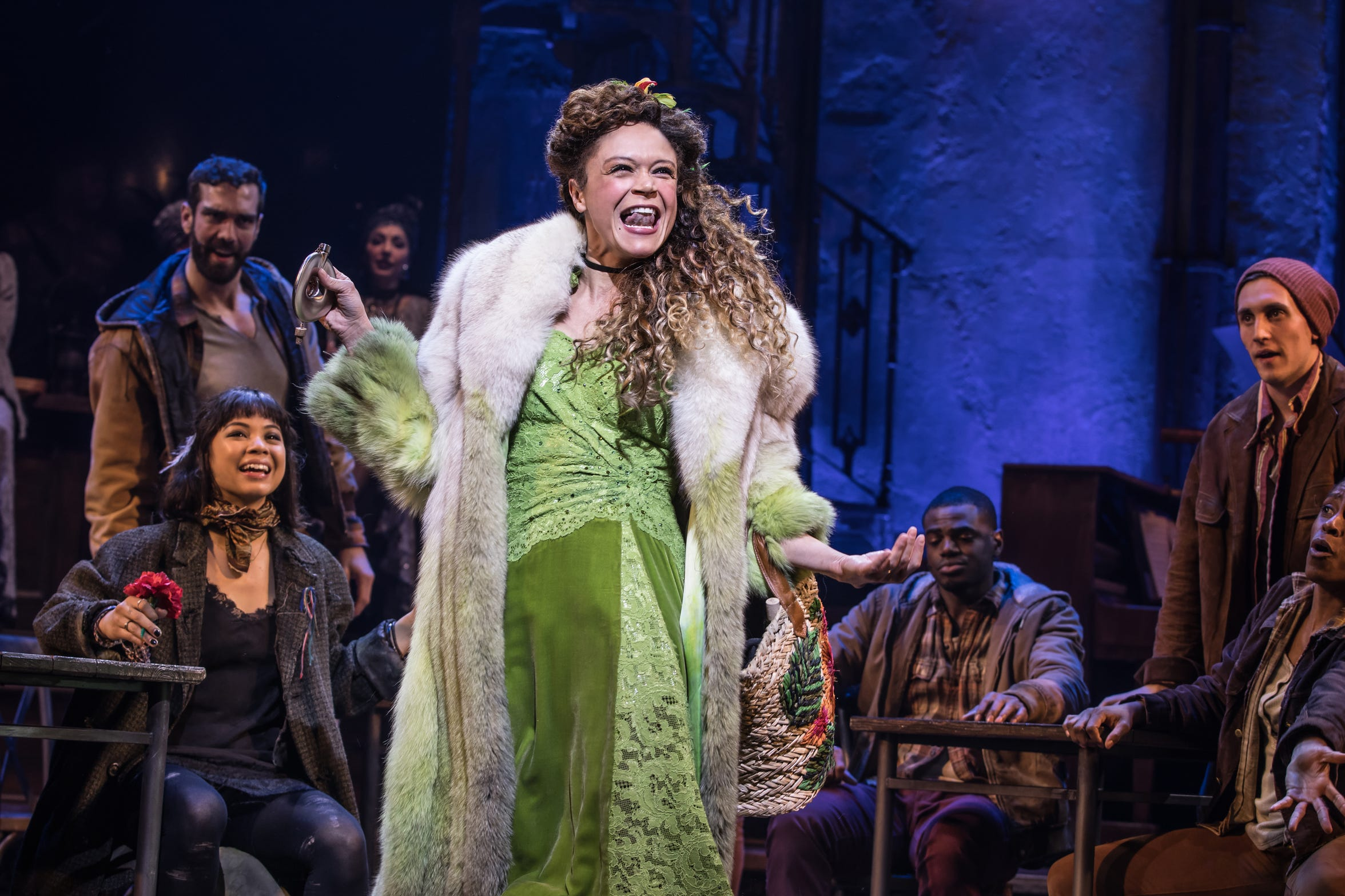 "Amber Gray performs as Persephone in the Broadway production of Anais Mitchell's musical ""Hadestown."""