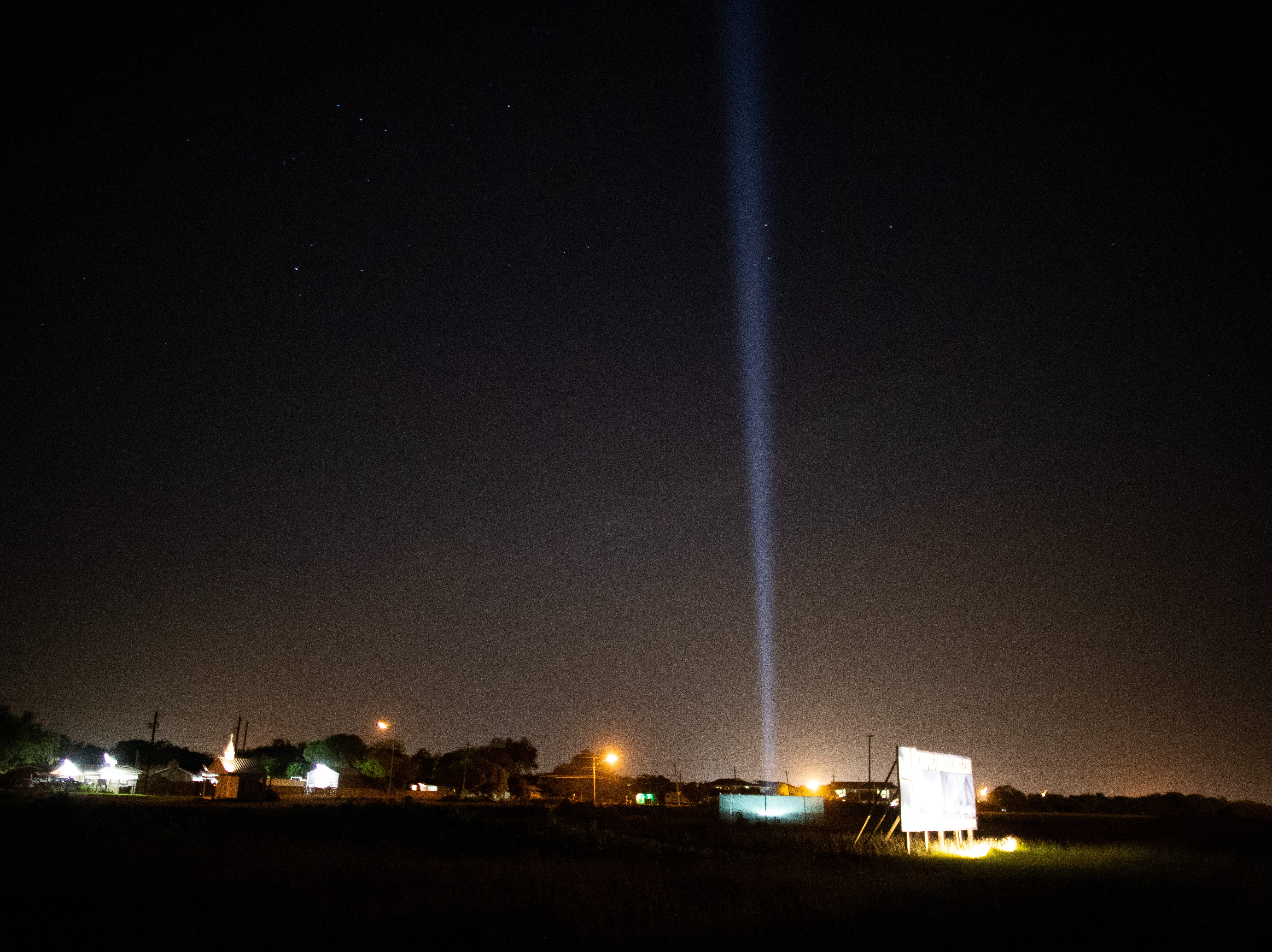 The site of the planned 230-foot Corpus Christi Cross along nterstate Highway 37, near Carbon Plant Road.