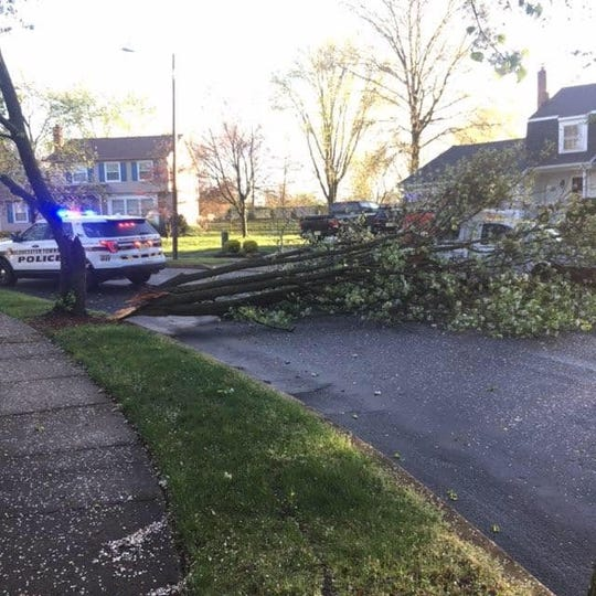 Gloucester Township Police reported that some streets were closed after Monday's storm.