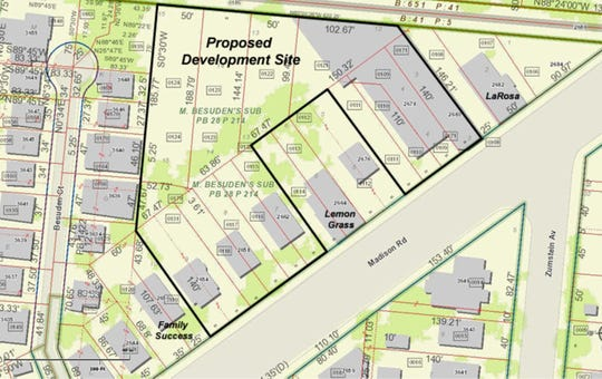 Here's a map of  Capital Investment Group's proposed development site on Madison Road in Hyde Park.