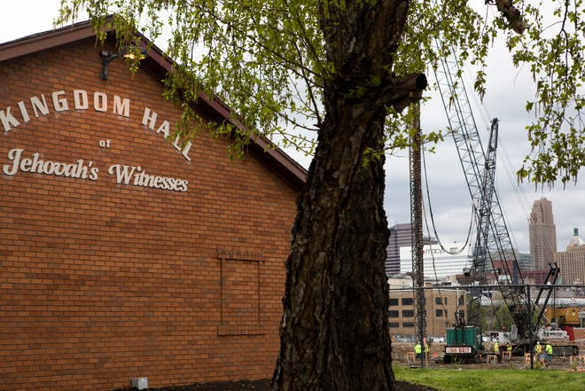 Jehovah's Witnesses Kingdom Hall in the West End on Monday, April 15, 2019. FC Cincinnati is in the process of buying it, which will allow them to expand the stadium site to the north.