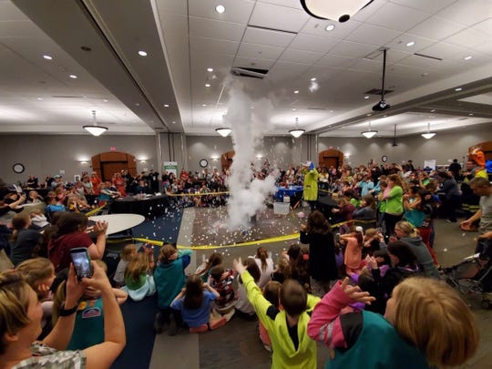 Scenes from the Girl Scouts STEM Fair on March 30 in Burlington, Kentucky.