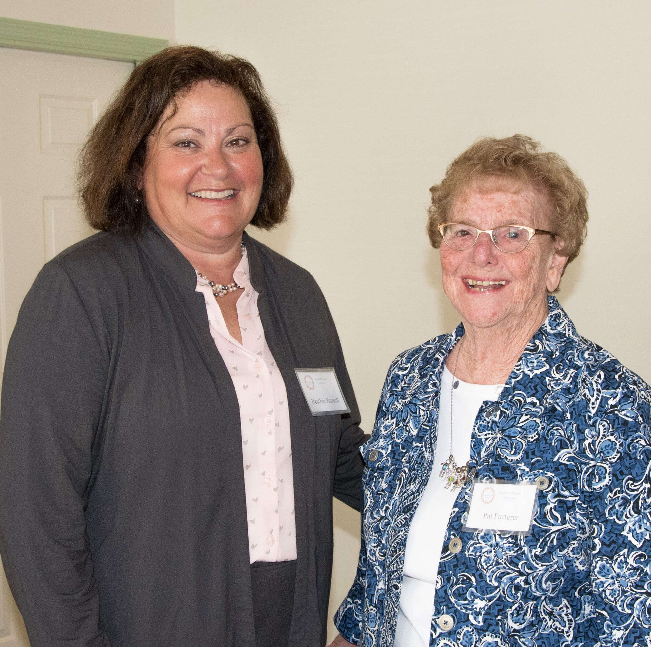 Judge Heather S. Russell spoke at the recent Loveland Woman's Club meeting. She is shown here with VP Pat Furterer (right).