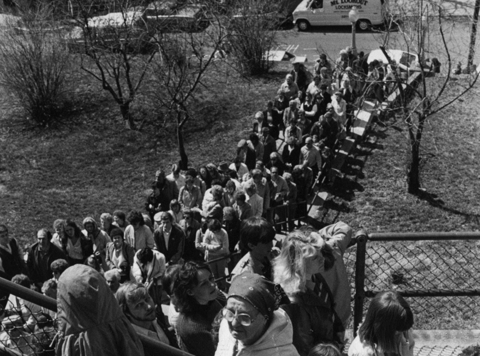 MARCH 1986: Good Friday pilgrimage to Immaculata Church in Mount Adams.