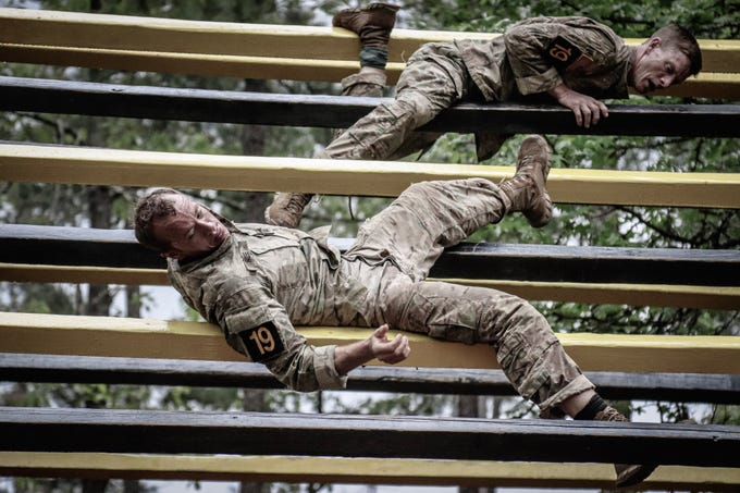 101st Airborne Division teams take part in the 2019 Best Ranger Competition, which ended Sunday, April 14, 2019.