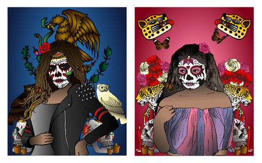 "Pedro Sibaja-Lopez's ""Day of the Dead,"" a multi-media mix of hand renderings and digital imagery will be part of a student exhibit that will run April 19 to May 3 in the Raritan Valley Community College Art Gallery on the Branchburg campus."