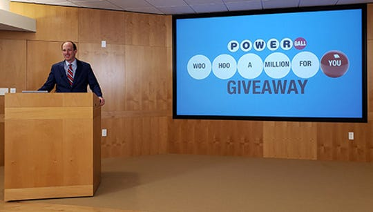 The Iowa Lottery announced its plans for an unclaimed $1 million prize on Monday, April 15, 2019. Photo provided by the Iowa Lottery.