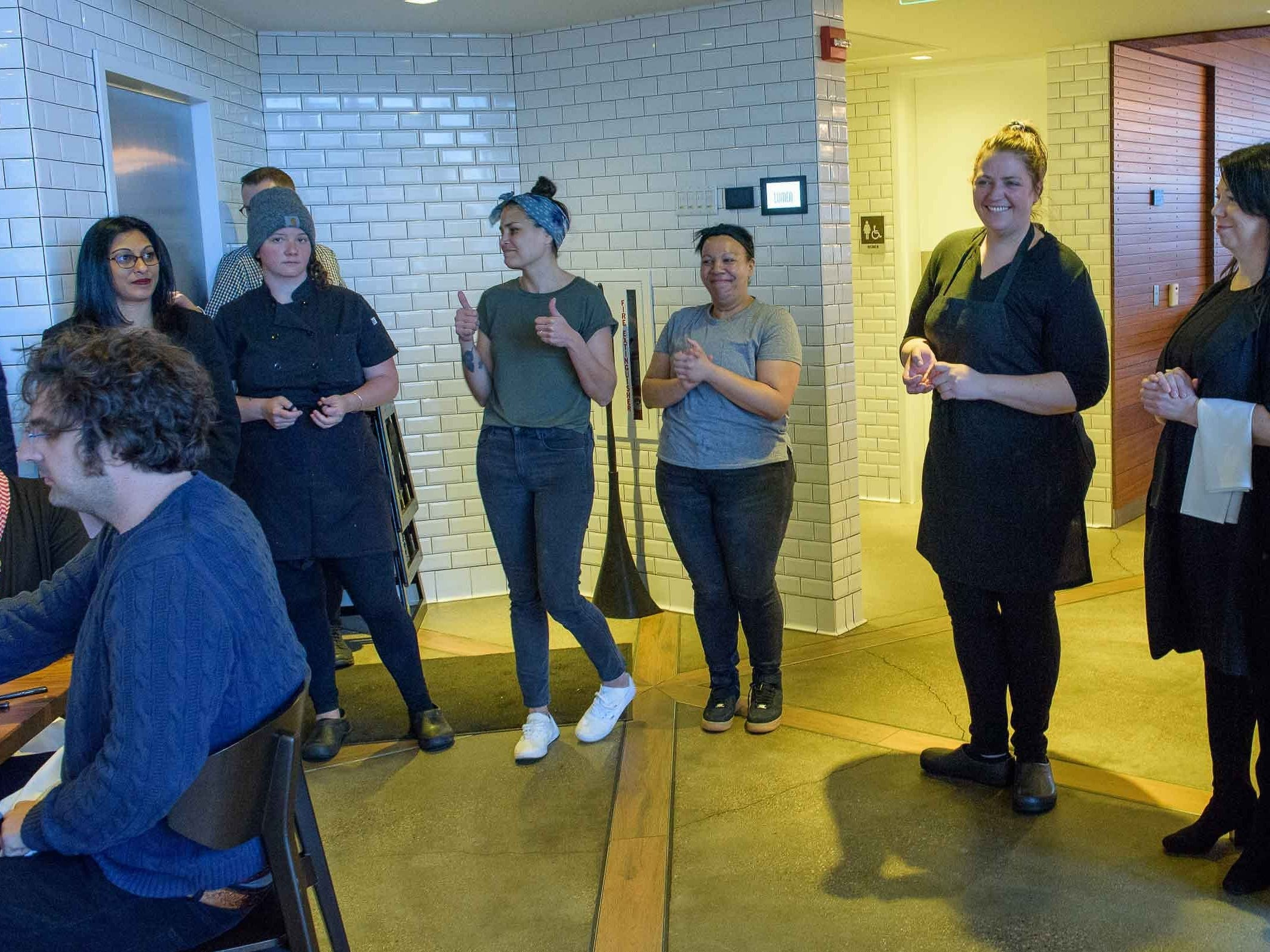 The Freep Film Festival and Lumen restuarant hosted Brunch and a movie April 14, 2019. Brunch consisted of a four course meal prepared by four of Detroits top female chefs, Gabby Milton, Sarah Welsh, Emmele Herrold and Kiki Louya.