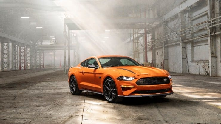 Ford introduces at the New York Auto Show Wednesday a Mustang with a unique engine designed for daily driving to work and racing at the track.
