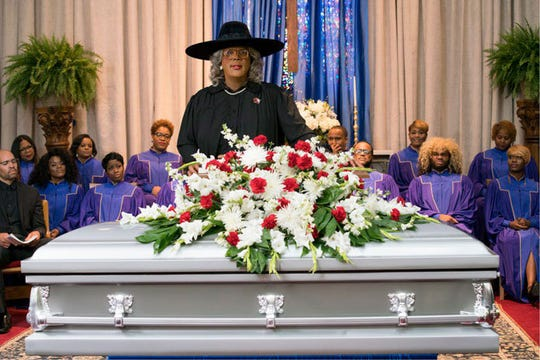 "Tyler Perry in ""A Madea Family Funeral,"" his final Madeam movie. It arrived in theaters March 1."