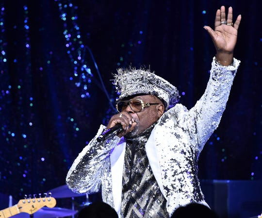 Singer/Songwriter George Clinton performs onstage at the 2017 SESAC Pop Awards on April 13, 2017 in New York City.  (Photo by Theo Wargo/Getty Images for SESAC)