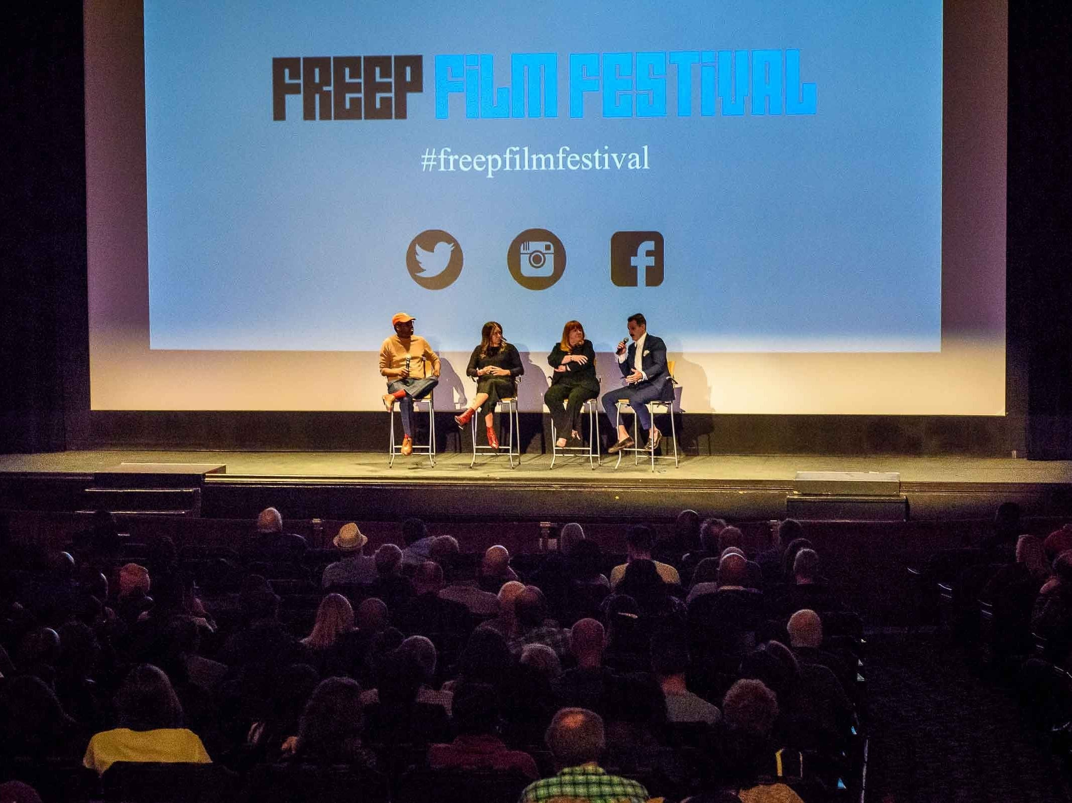 "The Freep Film Festival presented ""Dare to Struggle, Dare to Win"" at the Detroit Film Theatre at the Detroit Institute of Arts on April 14, 2019. A panel discussion followed hosted by Stephan Henderson that included director Christopher Gruse, executive producer Katy Cockrel and former Detroit City Council member Sheila Cockrel."