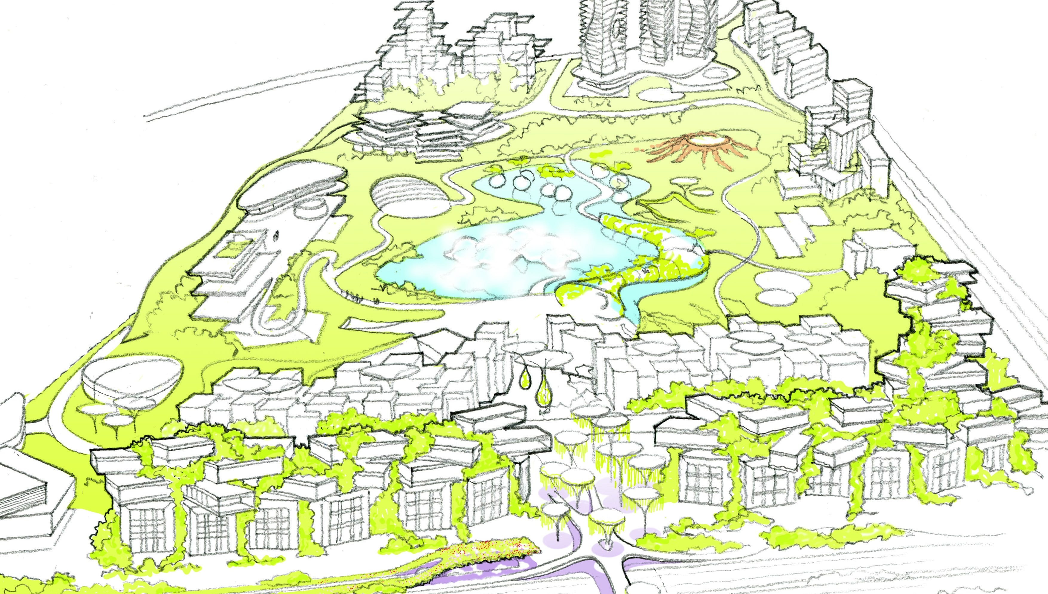 Turn Palmer Park into futuristic new development? This pair wants to do it