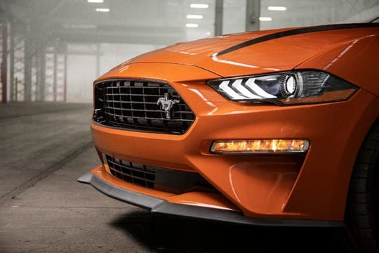 The 2020 Mustang 2.3L high-performance package is designed to run 0-60 mph in the mid-four-second range on premium fuel, with top speed increasing to 155 mph.