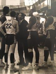 Sam Taub, center, led Detroit Mumford to a Detroit Public School league title in 1969.