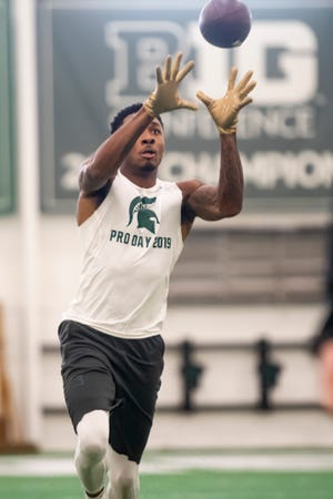 Michigan State cornerback Justin Layne could be a Day 2 option for the Lions in the NFL Draft.