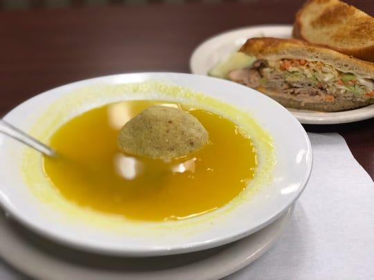 Matzo ball soup from Bread Basket Deli in Oak Park.