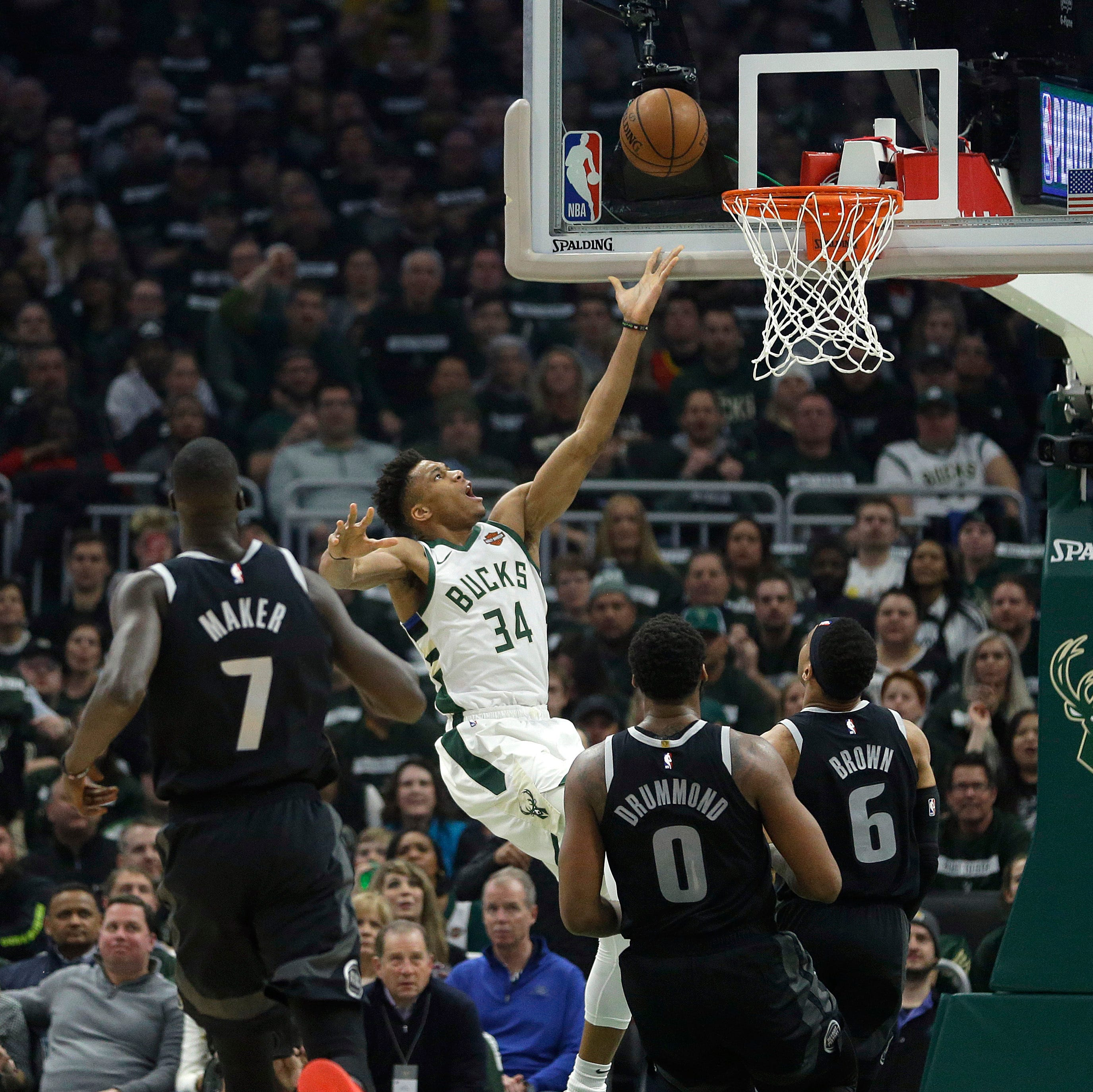 Milwaukee mauling: Bucks run over Pistons in Game 1