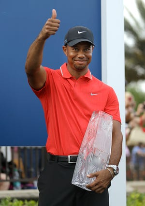 Tiger Woods won his fifth Masters, and 15th major, on Sunday.