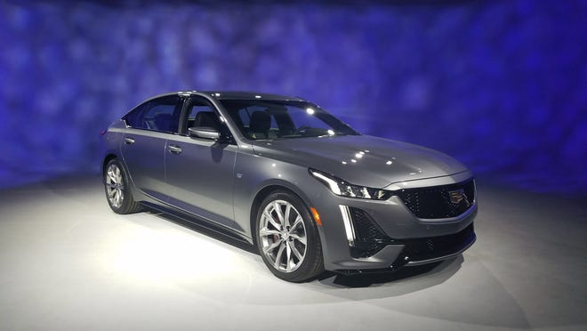 The 2020 Cadillac CT5 - shown here in Sport trim - will compete against the BMW 3-series in the compact car class.