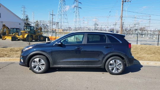 The 2019 Kia Niro EV has a range of 239 miles and can be recharged on a 100 kWh fast-charger 9though they are rare in the Midwest).
