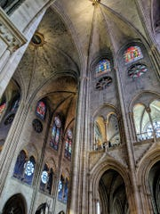 Inside Notre Dame cathedral in Paris, just hours before a fire significantly damaged the historic building.