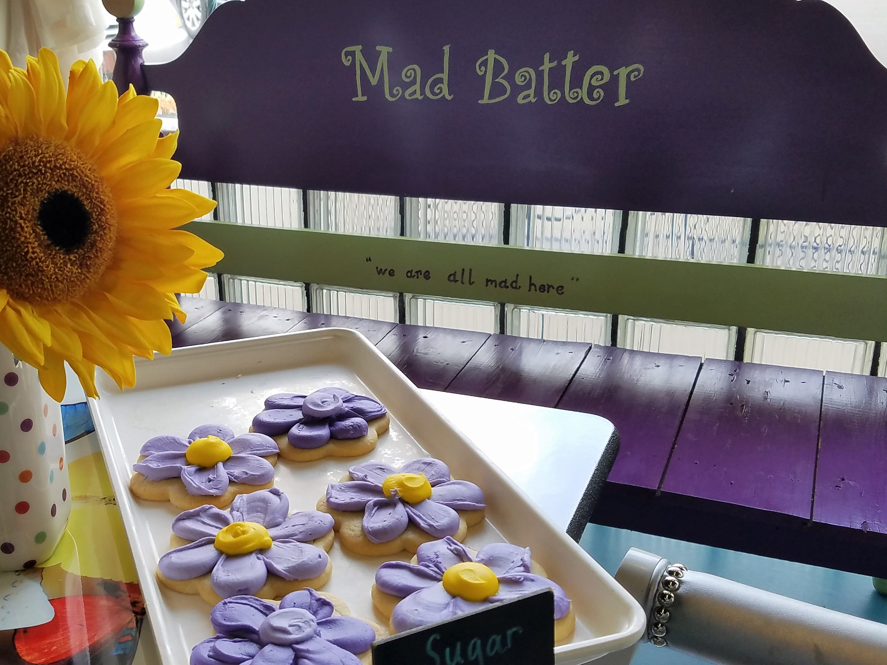 Iced cookies at The Mad Batter bakery in Jasper.