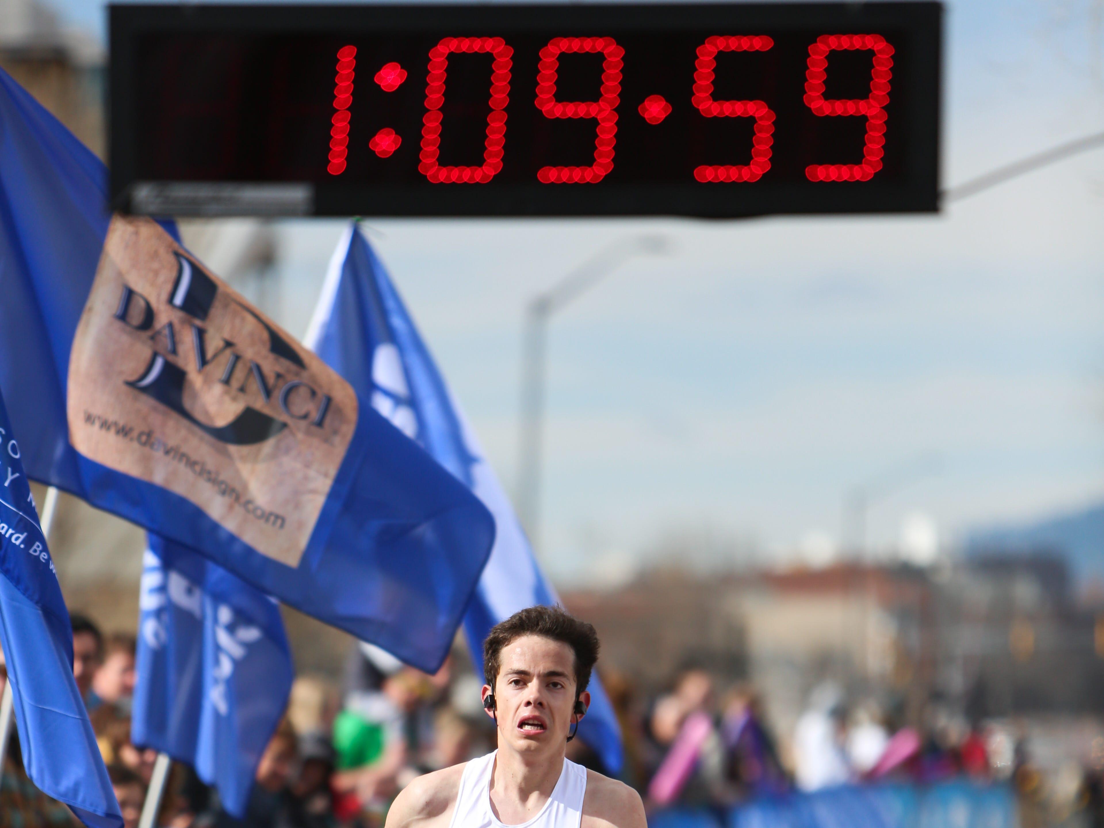 Alejandro Garcia completes the Horsetooth Half Marathon on April 14.