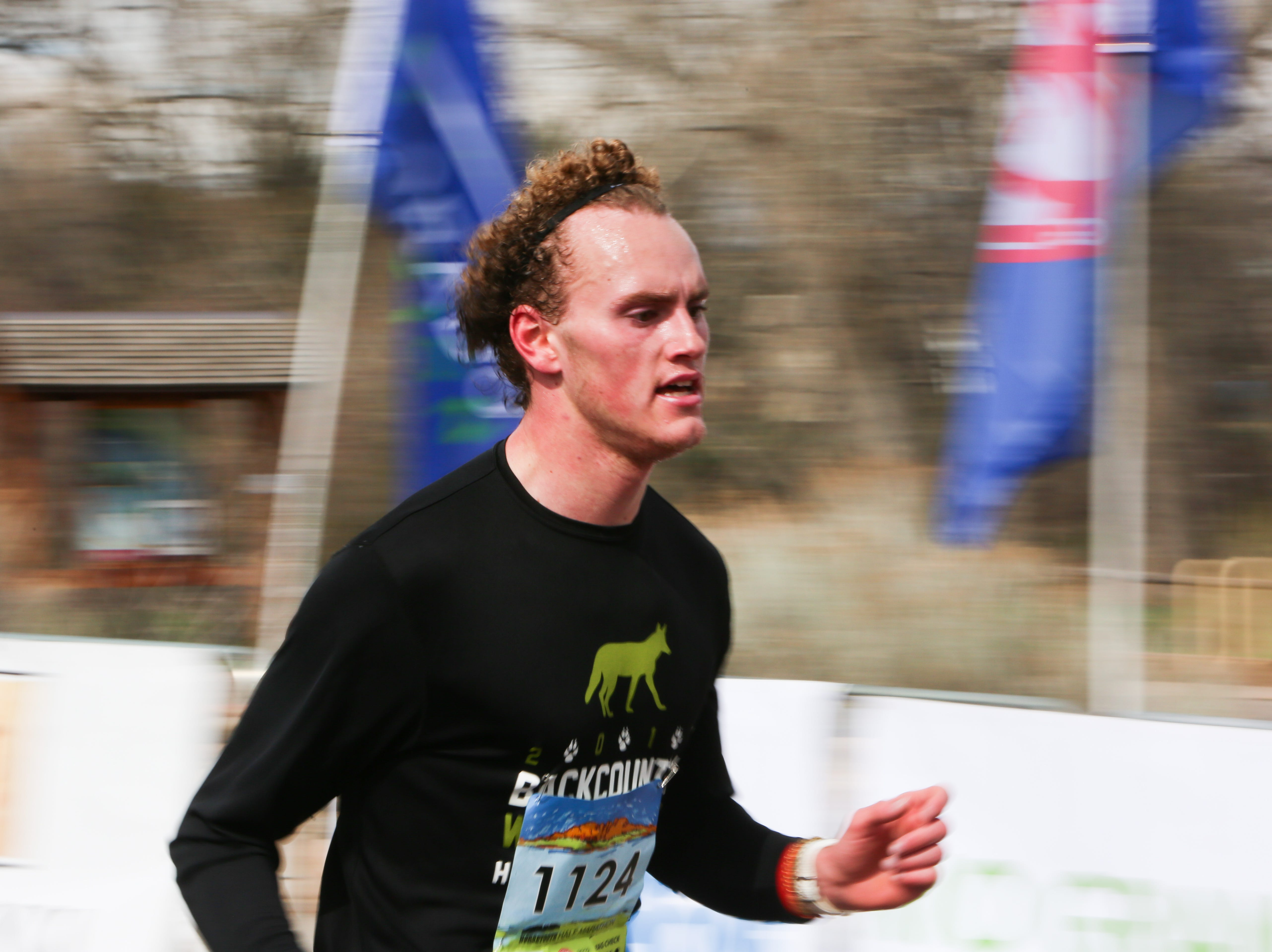 Jack Chambers finishes the Horsetooth Half Marathon on April 14