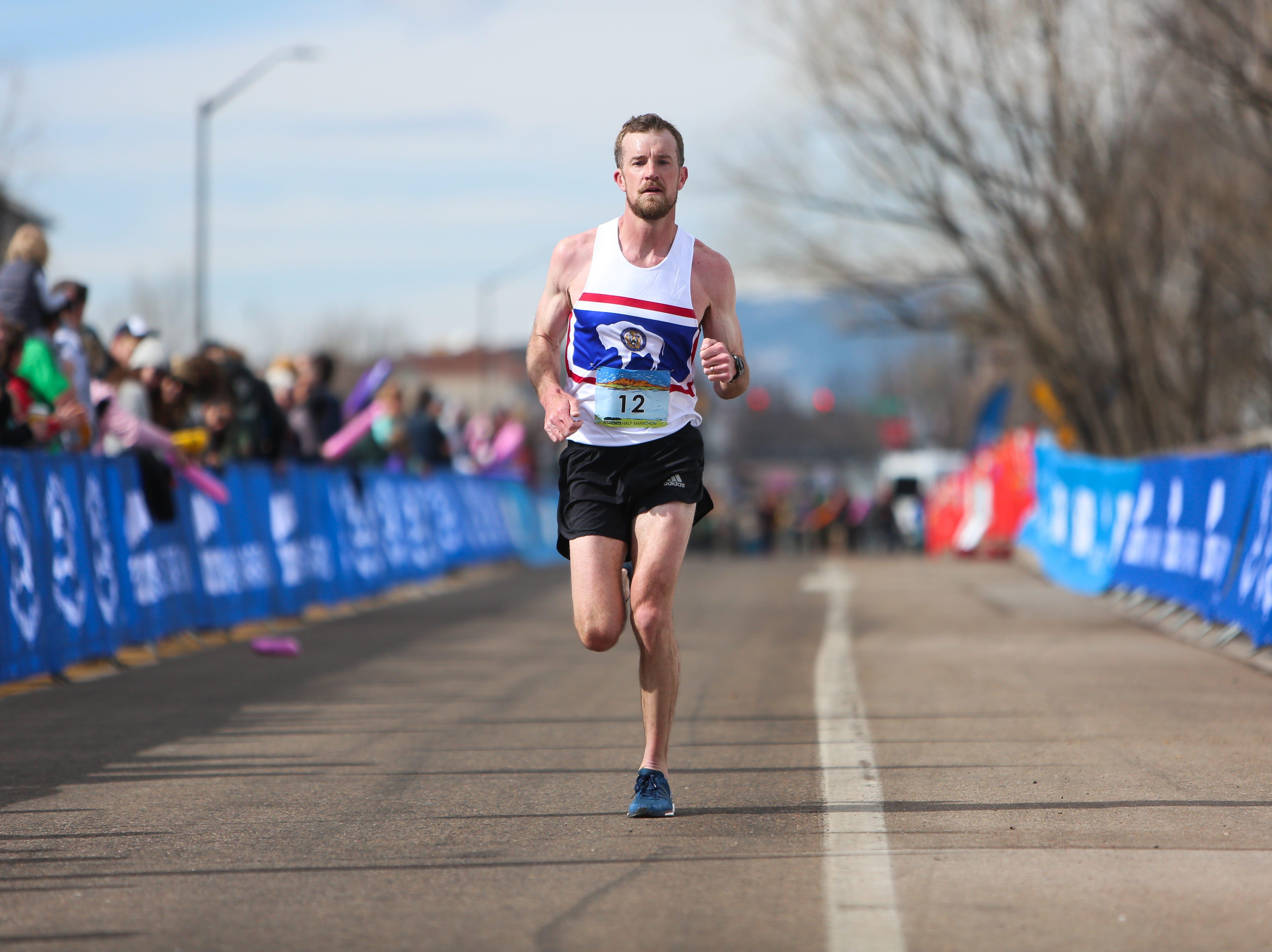 Scott Dahlberg completes the Horsetooth Half Marathon on April 14.