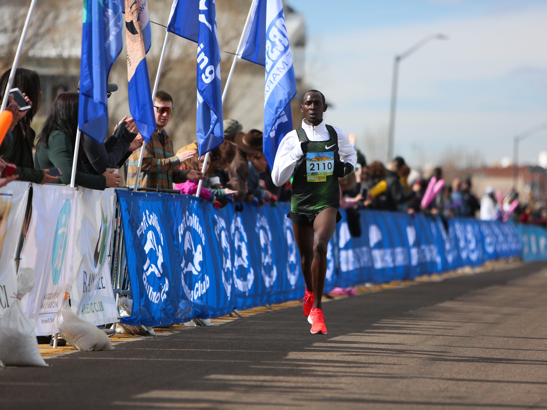 Hillary Cheshire completes the Horsetooth Half Marathon on April 14.