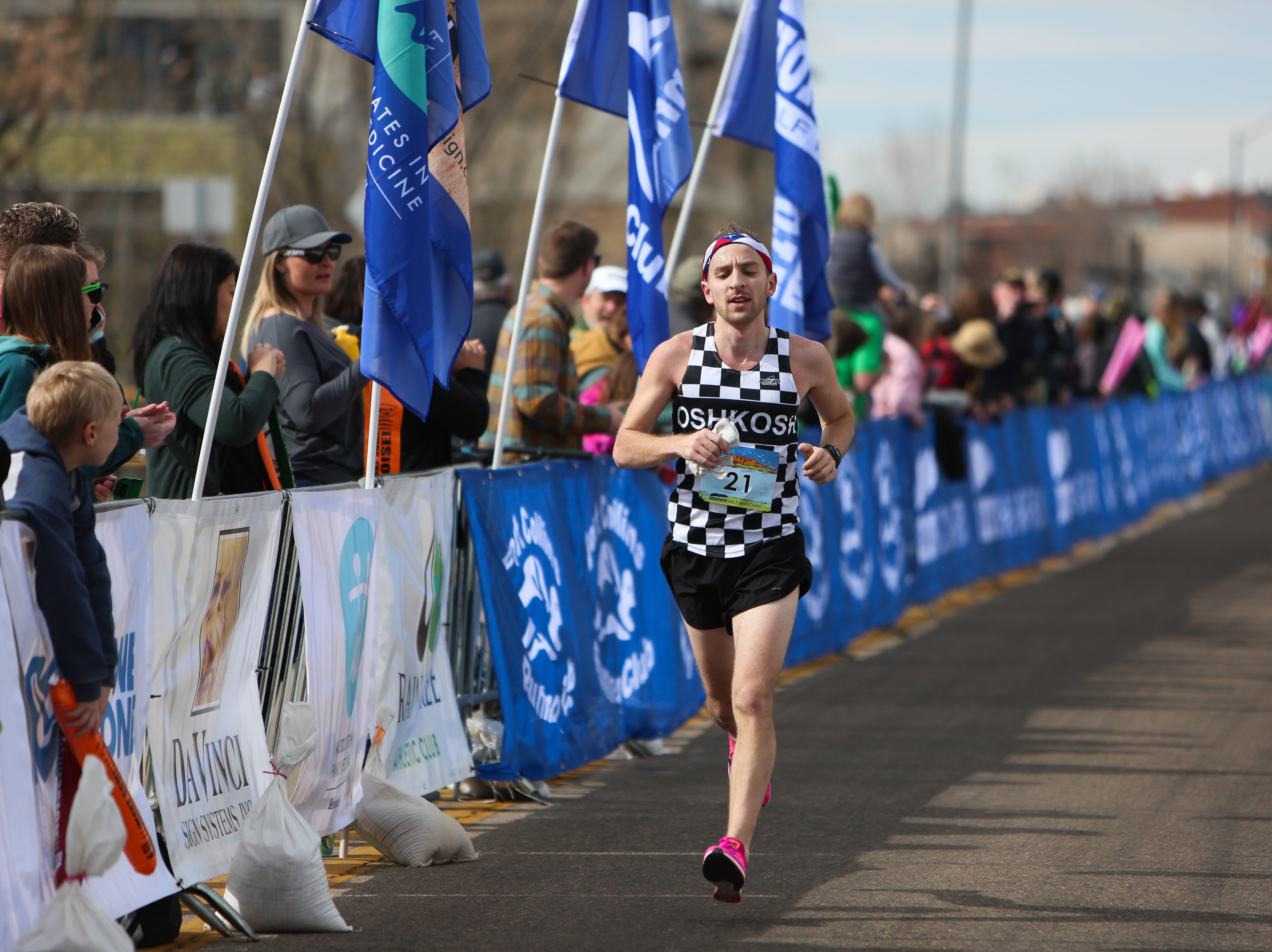 Derek Johnsrud completes the Horsetooth Half Marathon on April 14.