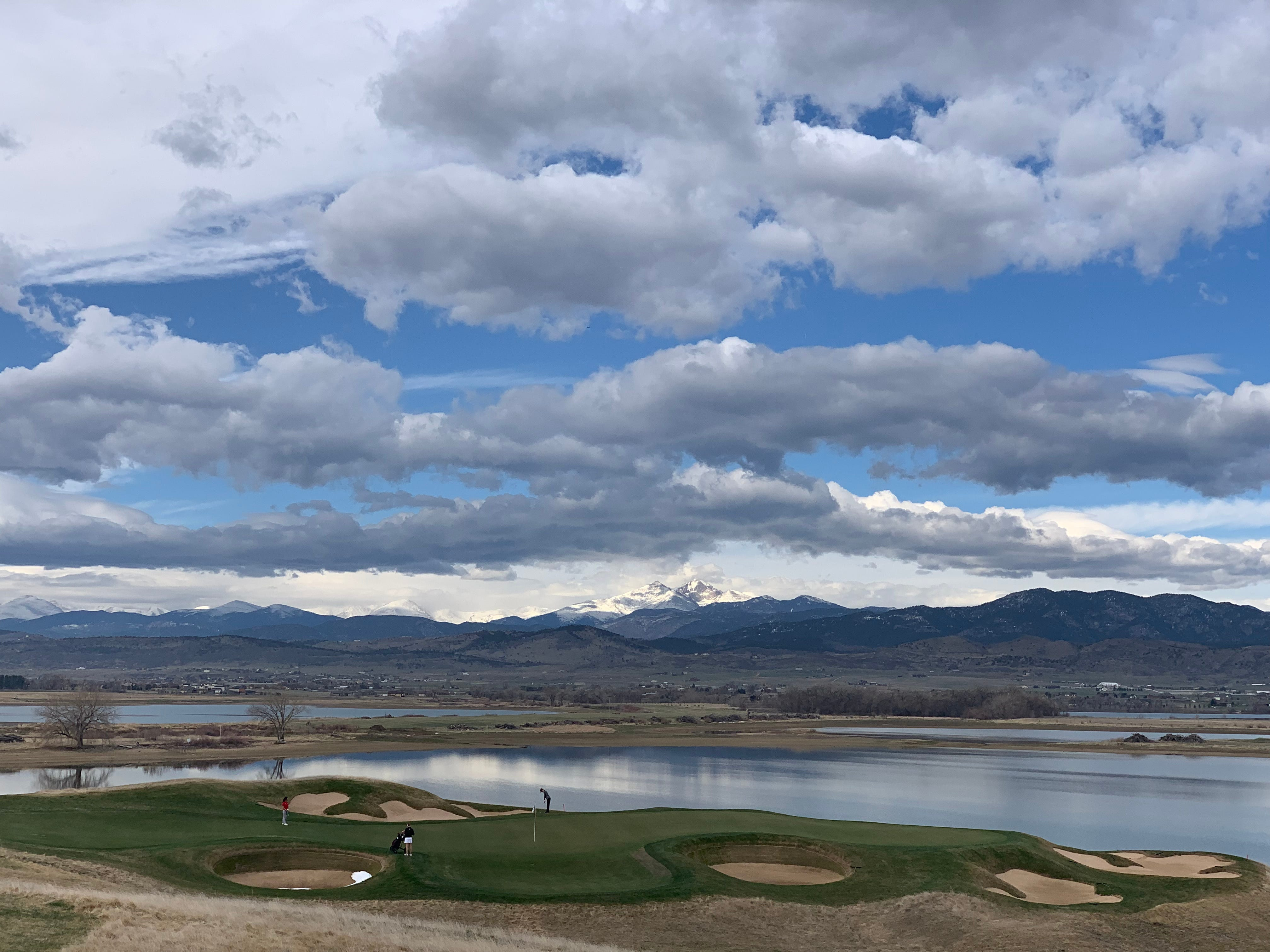 The scenic hole No. 16 at TPC Colorado in Berthoud.