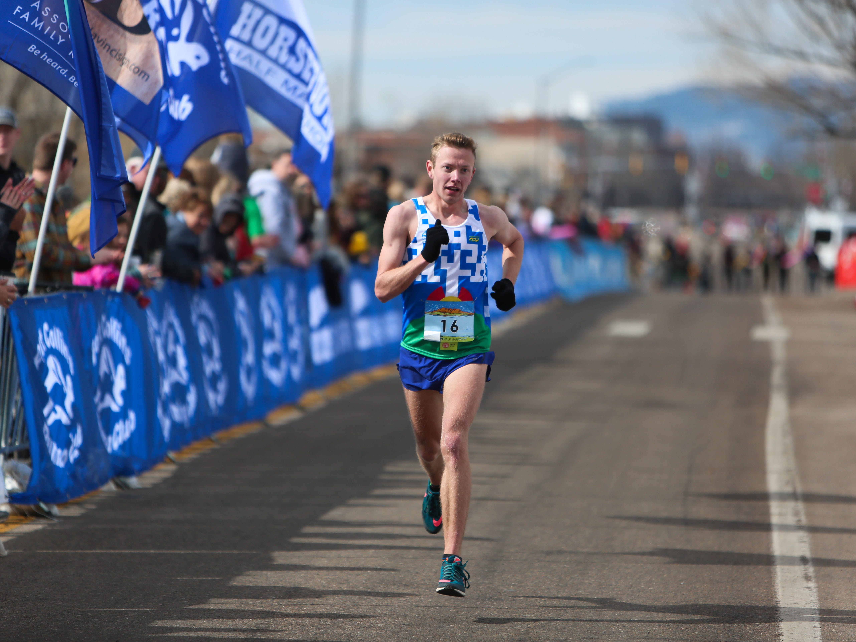 Brian Eimstad completes the Horsetooth Half Marathon on April 14.