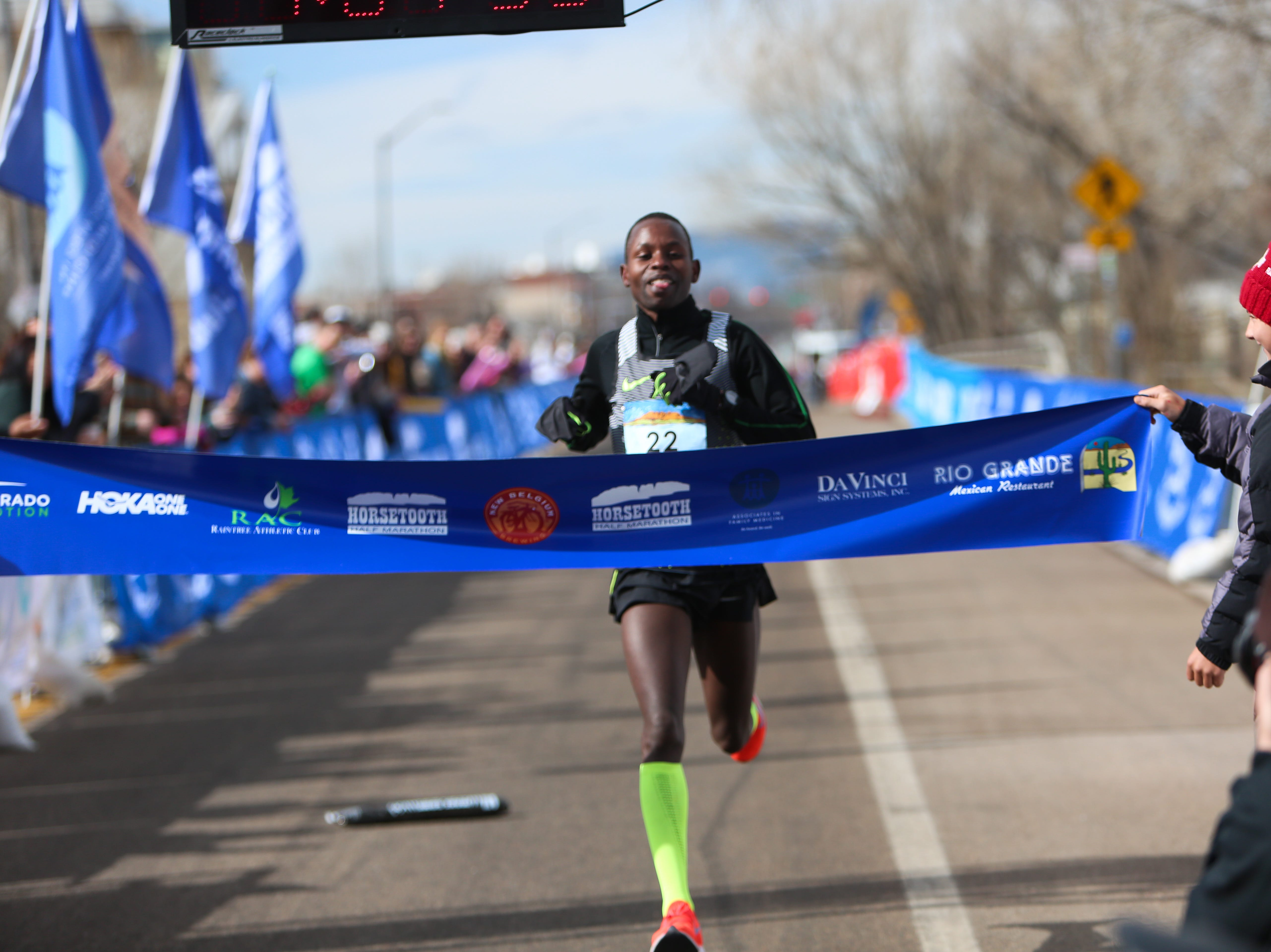 completes the Horsetooth Half Marathon on April 14.