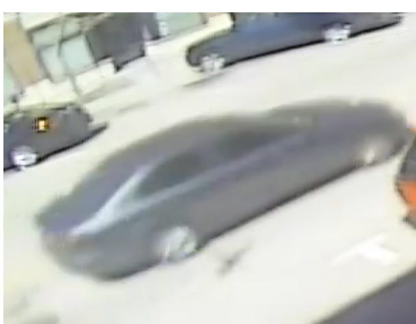 Police are searching for the driver of a car  involved in a hit-and-run accident April 8.