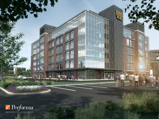 Proposed office building in Green Bay Packers' Titletown District.