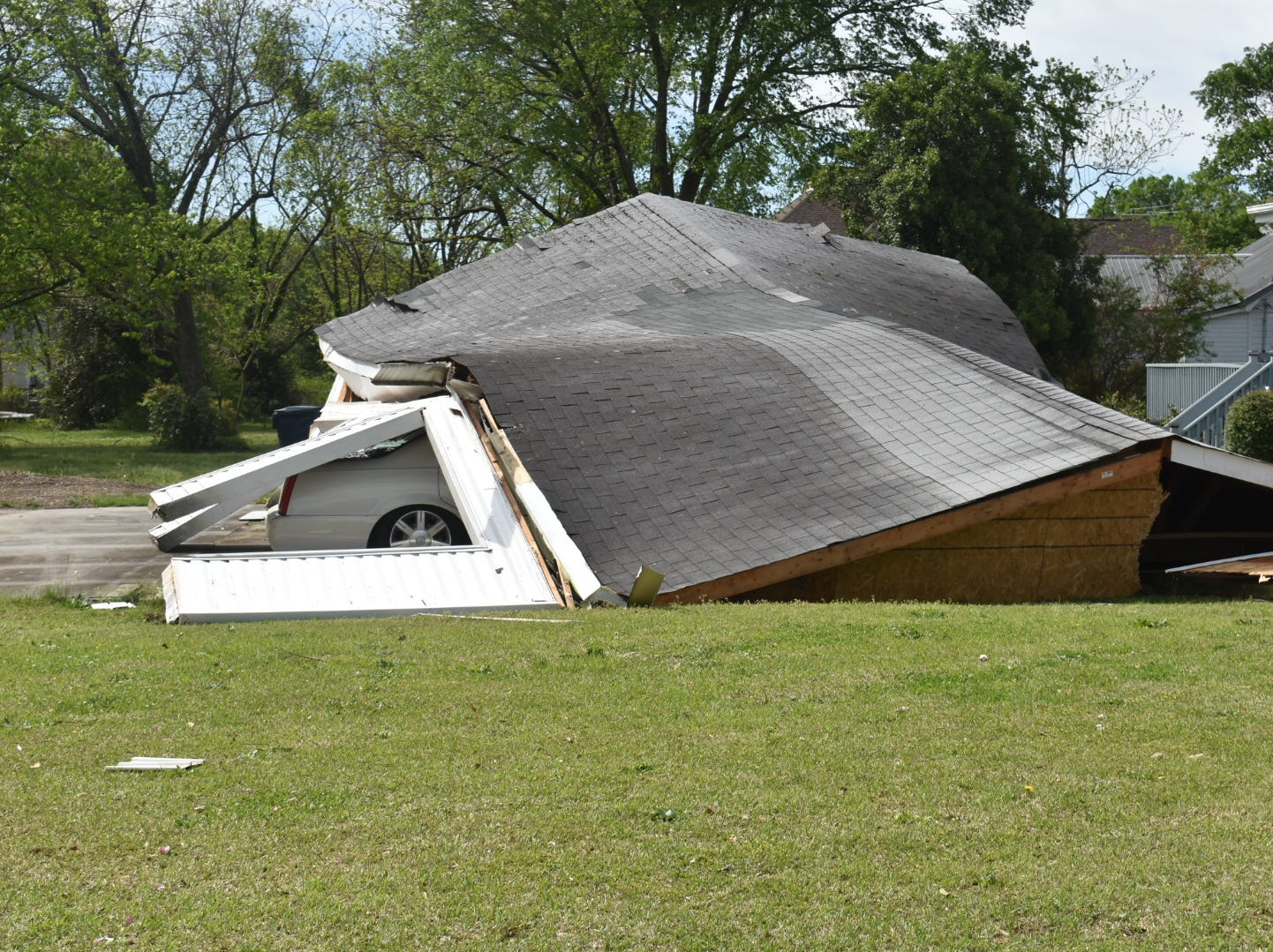 Some of the damage caused by a weekend storm in Simpsonville.