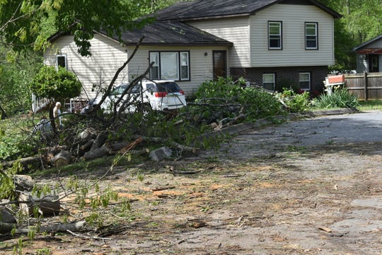 The National Weather Service is assessing damage in the Simpsonville area caused by a tornado Sunday night.