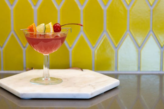 A pink martini can give a Montana feel to a cocktail party with Shivelight Flathead Cherry Shrub.