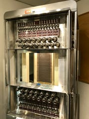 The Malmstrom Museum has an FSQ-7 magnetic core memory, which stored about 4KB worth. You'd need 32 million of those towers to get 128 GB and operate at a billionth of the speed and cover 9.22 miles.