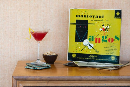 Classic colors pay homage to the elaborate cocktails of the past.