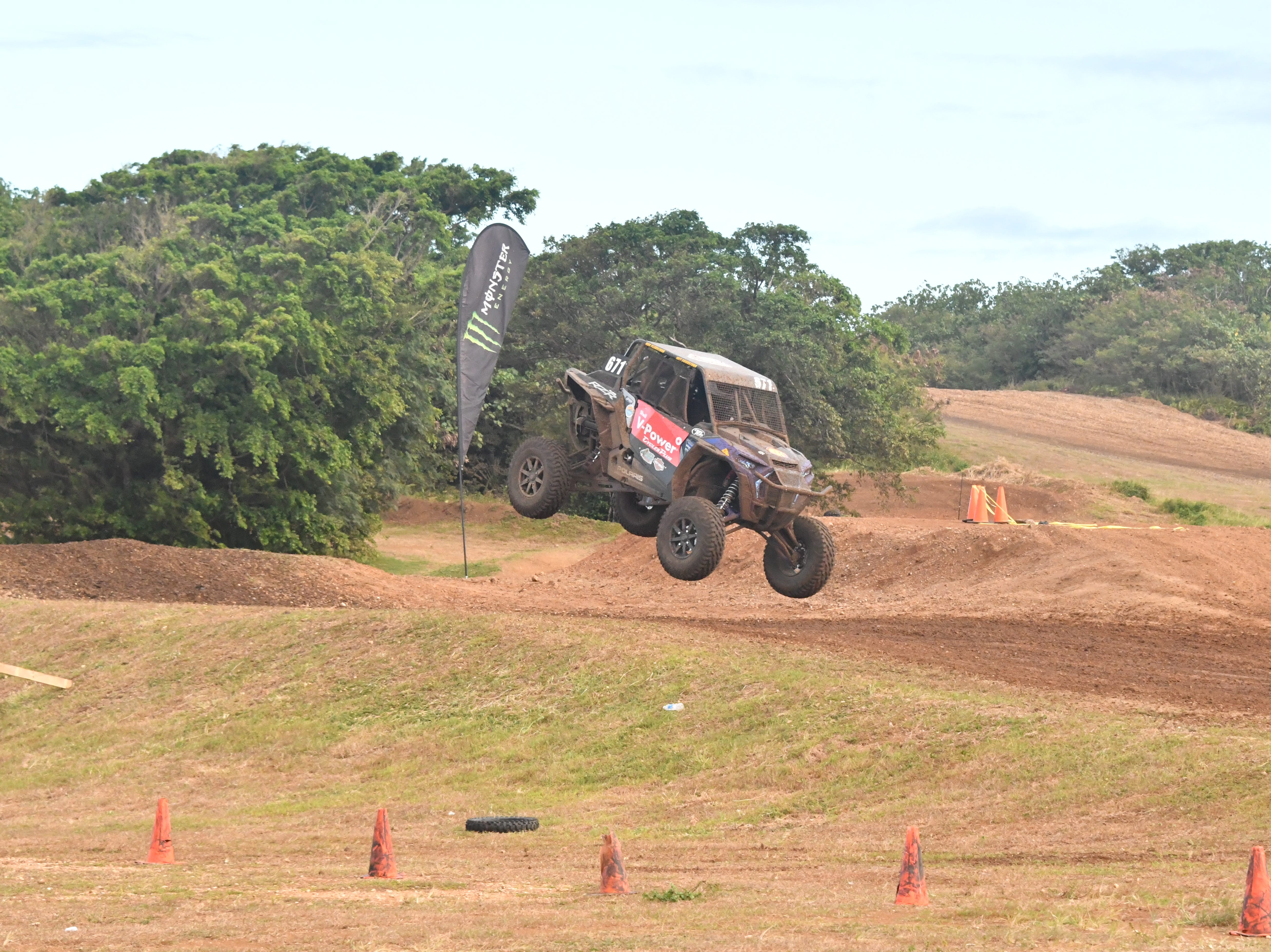 Action from the main event, the Offroad Enduro, at the 39th APL Smokin' Wheels at the Guam International Raceway.
