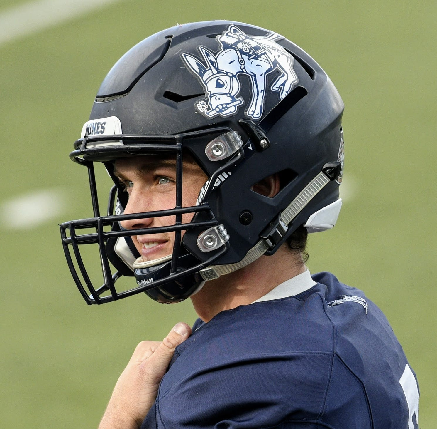 Colorado School of the Mines QB Isaac Harker.