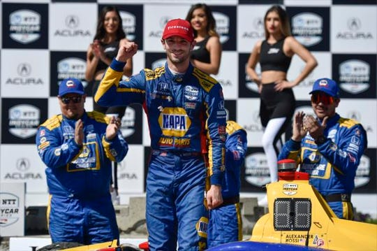 Alexander Rossi dominated Sunday's NTT IndyCar Series race on the streets of Long Beach.