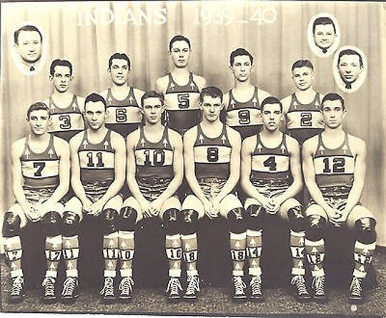 Gene Yates (No. 11) played for the Anderson Indians and was in the first Indiana All-Star game ever played, in 1940.